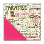 Deja Views - C-Thru - Little Yellow Bicycle - Paradise Collection - 12 x 12 Double Sided Textured Paper - Born to be Wild