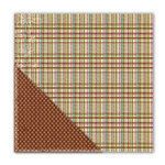 Deja Views - C-Thru - Little Yellow Bicycle - Paradise Collection - 12 x 12 Double Sided Textured Paper - Pleasant Plaid