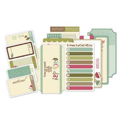 Deja Views - C-Thru - Little Yellow Bicycle - Paradise Collection - Ticket Book with Varnish Accents