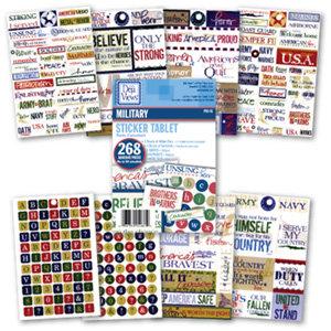 Deja Views - Sticker Tablet - 268 Adhesive Pieces - Military