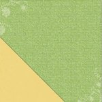 Little Yellow Bicycle - Poppy Collection - 12 x 12 Double Sided Paper - Green Script