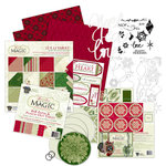 Deja Views - C-Thru - Little Yellow Bicycle - Christmas Magic Collection - 12 x 12 Scrapbook Kit, BRAND NEW