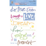 Deja Views - C-Thru - Wonderful Words - Color Splash Rub Ons  - Expressions, CLEARANCE
