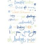 Deja Views Wonderful Words Color Splash Rub-Ons - Baby Boy