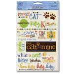 Deja Views - Pet Collection - Wonderful Words Rub Ons - Cat