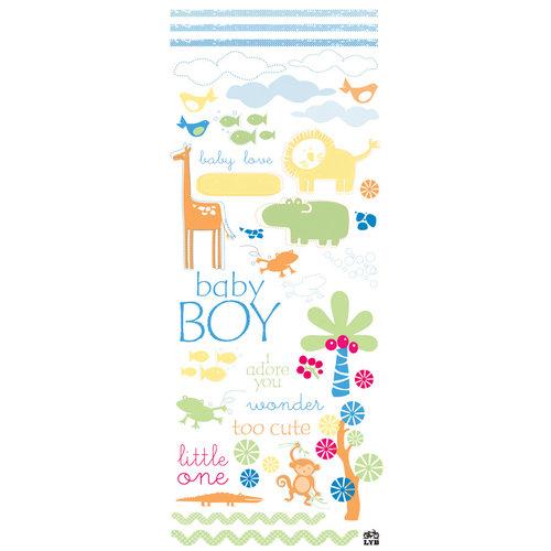Deja Views - C-Thru - Little Yellow Bicycle - Baby Safari Boy Collection - Glitter Rub Ons