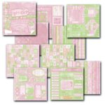 Deja Views Sharon Ann Collection Paper and Pieces Tablet - Baby Girl, CLEARANCE