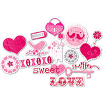 Deja Views - C Thru - Little Yellow Bicycle - Sweet Love Collection - Clear Cuts - Glitter Shapes, CLEARANCE