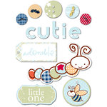 Deja Views - C-Thru - Little Yellow Bicycle - Snugglebug Collection - 3 Dimensional Fabric Stickers - Baby Boy - Favorites