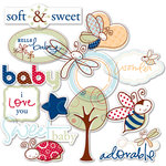 Deja Views - C-Thru - Little Yellow Bicycle - Snugglebug Collection - Clear Cuts - Baby Boy - Shapes