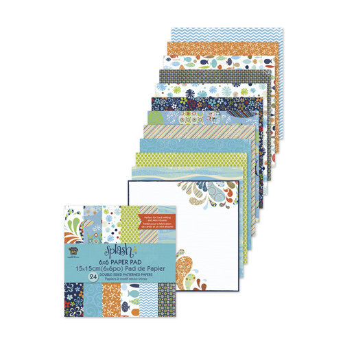 Deja Views - C-Thru - Little Yellow Bicycle - Splash Collection - 6 x 6 Paper Pad