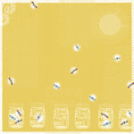 Deja Views - C-Thru - Little Yellow Bicycle - Sweet Summertime Collection - 12 x 12 Glittered and Textured Paper - Fireflies