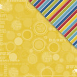 Deja Views - C-Thru - Little Yellow Bicycle - Sweet Summertime Collection - 12 x 12 Double Sided Textured Paper - Hello Sunshine