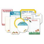 Deja Views - C-Thru - Little Yellow Bicycle - Sweet Summertime Collection - Journaling Cards with Varnish Accents