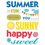 Deja Views - C-Thru - Little Yellow Bicycle - Sweet Summertime Collection - Canvas Stickers - Words