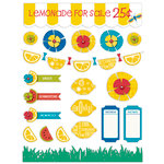 Deja Views - C-Thru - Little Yellow Bicycle - Sweet Summertime Collection - Fabric Stickers with Button Accents - Favorites
