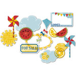 Deja Views - C-Thru - Little Yellow Bicycle - Sweet Summertime Collection - Clear Cuts with Glitter Accents