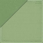 Deja Views - C-Thru - Little Yellow Bicycle - Savor Collection - 12 x 12 Double Sided Paper - Green Fleur de Lis