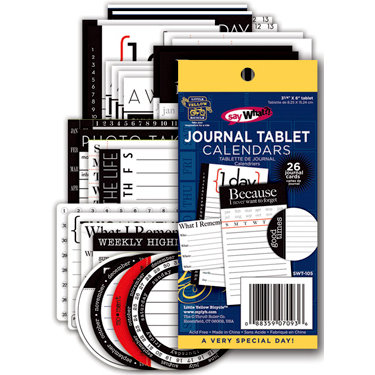 Deja Views - C-Thru - Little Yellow Bicycle - Say What Collection - Journal Tablet - Calendars, BRAND NEW
