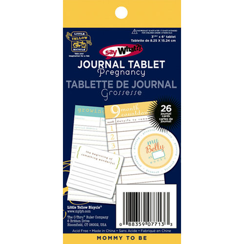 Deja Views - C-Thru - Little Yellow Bicycle - Say What Collection - Journal Tablet - Pregnancy, CLEARANCE