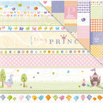 Deja Views - C-Thru - Little Yellow Bicycle - Tiny Princess Collection - 12 x 12 Double Sided Textured Paper - Tiny Princess Bands