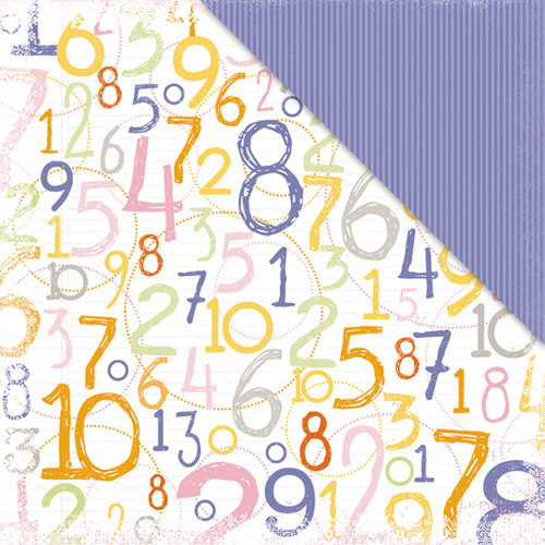 Deja Views - C-Thru - Little Yellow Bicycle - Tiny Princess Collection - 12 x 12 Double Sided Textured Paper - Numbers