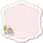 Deja Views - C-Thru - Little Yellow Bicycle - Tiny Princess Collection - 12 x 12 Decorative Edge Paper with Glitter Accents
