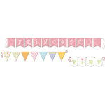 Deja Views - C-Thru - Little Yellow Bicycle - Tiny Princess Collection - Mini Banners with Embossed Accents