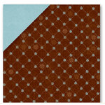 Deja Views - Timeless Collection - 12x12 Double Sided Paper - Brown Quilt