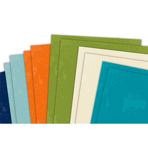 Deja Views - C-Thru - Little Yellow Bicycle - Traveler Collection - 12 x 12 Cardstock Paper Pack