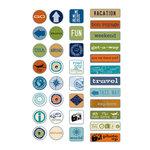 Deja Views - C-Thru - Little Yellow Bicycle - Traveler Collection - Epoxy Stickers