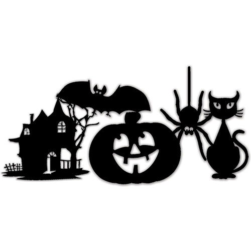 Deja Views - C-Thru - Little Yellow Bicycle - Trick or Treat Collection - Halloween - Vinyl Stickers - Silhouette Icons, CLEARANCE
