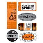 Deja Views - C-Thru - Little Yellow Bicycle - Trick or Treat Collection - Halloween - Fabric Tags, CLEARANCE