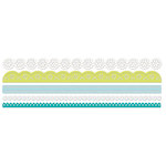 Deja Views - C-Thru - Little Yellow Bicycle - Twig Collection - Crepe Paper Lace Stickers - Borders, CLEARANCE