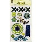 Deja Views - C-Thru - Little Yellow Bicycle - Vita Bella Collection - Adhesive Chipboard - Embellishments, CLEARANCE