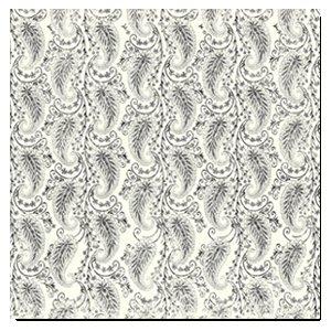 Deja Views - 12x12 Paper - Wedding - Grey Paisley