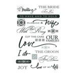 Deja Views - C-Thru - Wonderful Rub Ons - Wedding Day - Words