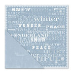 Little Yellow Bicycle - Winterings Collection - 12 x 12 Double Sided Paper - Wintry Words