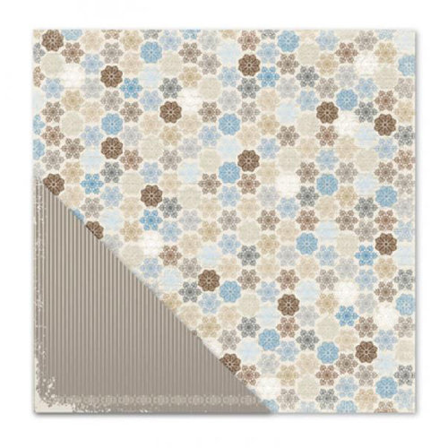 Little Yellow Bicycle - Winterings Collection - 12 x 12 Double Sided Paper - Flurry Dot Multi