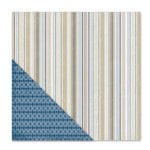 Little Yellow Bicycle - Winterings Collection - 12 x 12 Double Sided Paper - Winterings Stripe