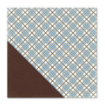 Little Yellow Bicycle - Winterings Collection - 12 x 12 Double Sided Paper - Winter Plaid