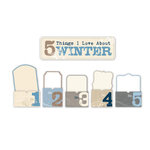 Little Yellow Bicycle - Winterings Collection - 5 Things Pocket with Glitter Accents