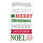 Deja Views - C-Thru - Little Yellow Bicycle - Wonder Wishes Collection - Christmas - Chipboard Stickers with Debossed Accents - Words