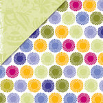 Deja Views - C-Thru - Little Yellow Bicycle - Zinnia Collection - 12 x 12 Double Sided Paper - Zinnia Dot