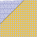 Deja Views - C-Thru - Little Yellow Bicycle - Zinnia Collection - 12 x 12 Double Sided Paper - Orange Dots, CLEARANCE