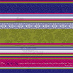 Deja Views - C-Thru - Little Yellow Bicycle - Zinnia Collection - 12 x 12 Glitter Paper - Big Garden Stripe