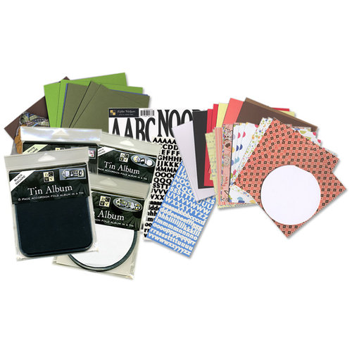 Die Cuts with a View - Accordian Fold 580 Piece Tin Album Kit