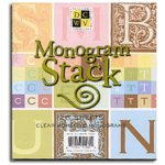 Die Cuts With A View - Clear Monogram Sticker Stack, CLEARANCE