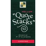Die Cuts With a View - Vellum Quote Stacks - Christmas, CLEARANCE