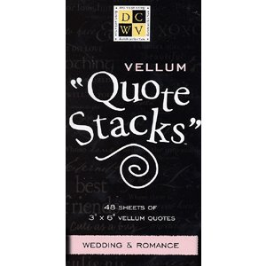 Die Cuts With a View - Vellum Quote Stacks - Wedding and Romance